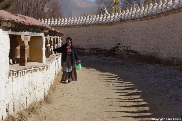 Pilgrim at Samye Monastery