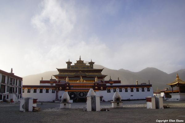 Samye Monastery at sunset