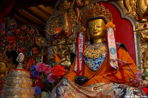 Statue at Mindrolling Monastery
