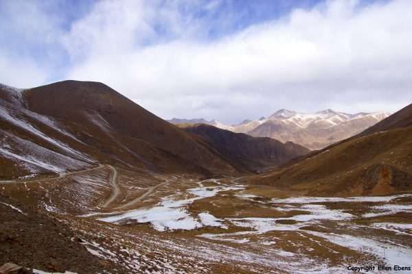 At the Chak La pass (4,850 meter)