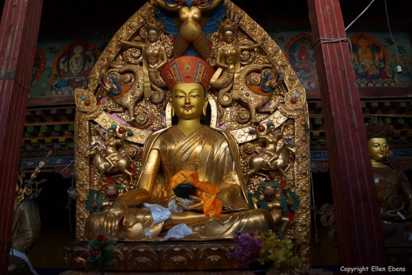 Statue inside Taklung Monastery