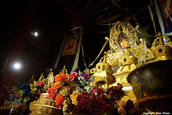 Funeral stupa inside Taklung Monastery