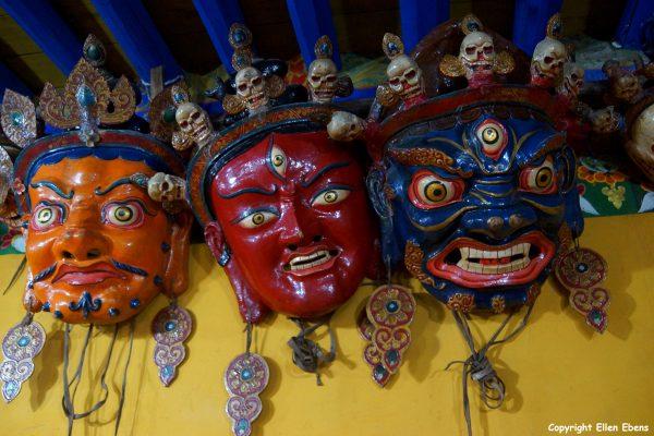 Masks, Taklung Monastery